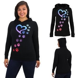 Animal Rescue Rainbow Paws Black Hooded Thermal